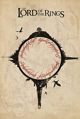 Lord Of The Rings Print by FHT Designs