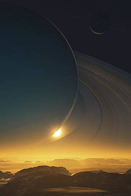 Solar Eclipse Digital Art - Lord Of The Rings by John Robichaud