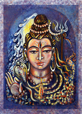 Tantra Painting - Lord Shiva by Harsh Malik