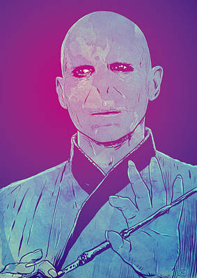 Fantasies Drawing - Lord Voldemort by Giuseppe Cristiano