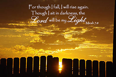 Lord Will Be My Light Micah 7 Print by Robyn Stacey