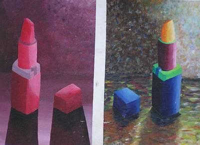Lip Stick Painting - Loreal Lip Sticks by Bonnie Roth