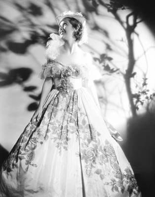 Loretta Young In 19th Century Gown Print by Everett