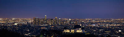Los Angeles City Panorama Original by Jerome Obille