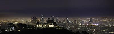 Photograph - Los Angeles City Skyline by Jerome Obille