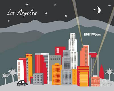 Movies Digital Art - Los Angeles by Karen Young