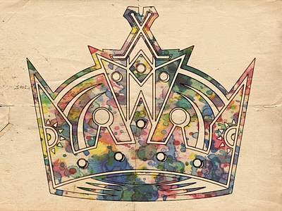 Goaltender Painting - Los Angeles Kings Logo Poster by Florian Rodarte