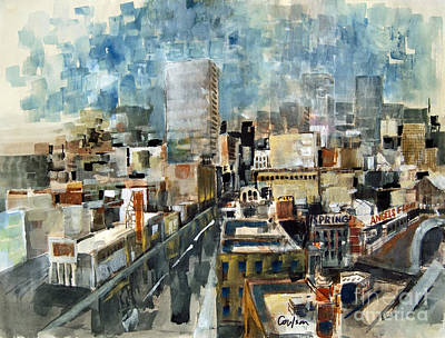 Los Angeles Skyline Painting - Los Angeles Skyline by Anthony Coulson