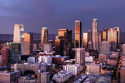 Los Angeles Skyline Photograph - Los Angeles Skyline by Carol M Highsmith