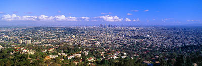 Outlook Photograph - Los Angeles Skyline From Mulholland by Panoramic Images