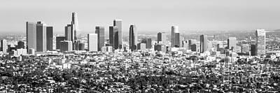 Los Angeles Skyline Photograph - Los Angeles Skyline Panorama Photo by Paul Velgos