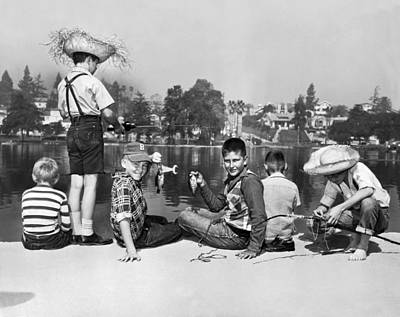 Tom Boy Photograph - Los Angeles Tom Sawyer Contest by Underwood Archives