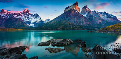 Los Cuernos Panorama Print by Inge Johnsson