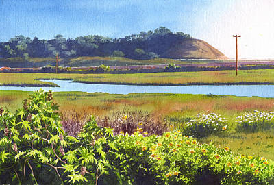 Marshes Painting - Los Penasquitos Creek Torrey Pines by Mary Helmreich