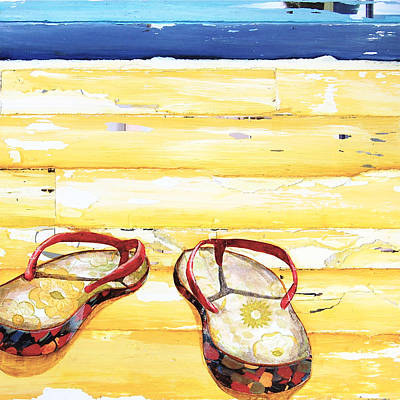 Sandals Mixed Media - Lost At Sea by Danny Phillips