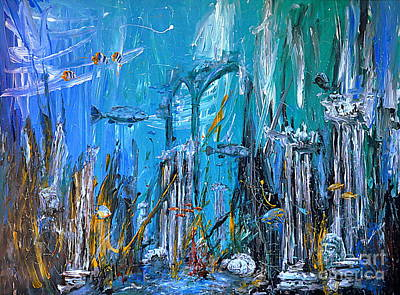 Atlantis Painting - Lost City by Arturas Slapsys
