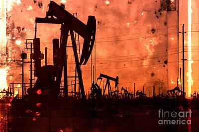 Lost Hills Oil Print by Matt  Trimble