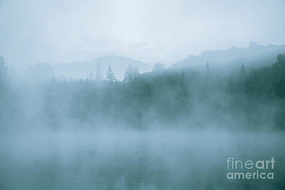 Lost In Fog Over Lake Print by Jola Martysz