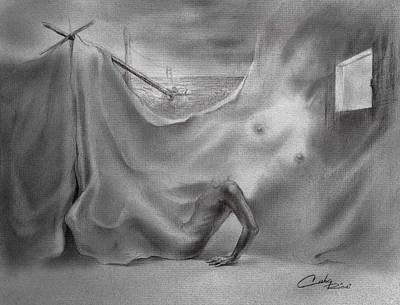 Dreamlike Drawing - Lost In My Canvases by Marco Cuba-Ricsi