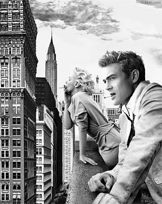 Marilyn Monroe And James Dean Photograph - Lost In Space by Movie Prints