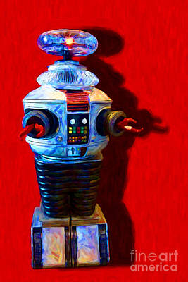 Lost In Space Robot - 20130117 Print by Wingsdomain Art and Photography