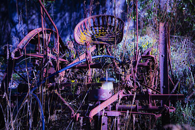 Machinery Photograph - Lost In The Weeds by Garry Gay