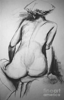Contemplating Drawing - Lost In Thought by Rory Sagner