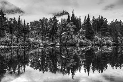 Many Glacier Photograph - Lost Lake by Mark Kiver