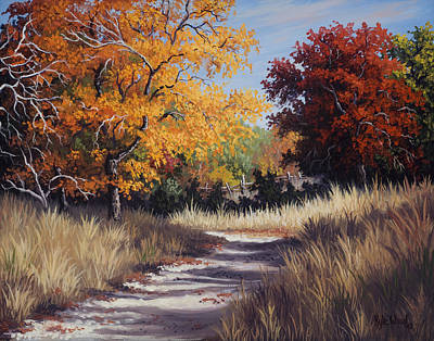 Kyle Wood Painting - Lost Maples Trail by Kyle Wood