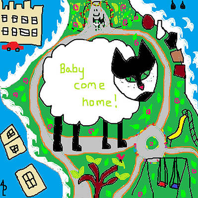 Lost Sheep Print by Anita Dale Livaditis