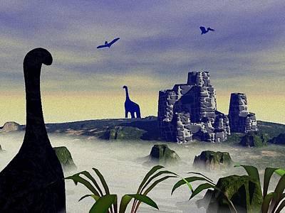Dino Digital Art - Lost World by Anastasiya Malakhova