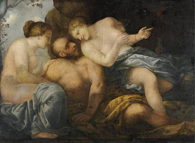 Lot Painting - Lot And His Daughters by Pietro Liberi