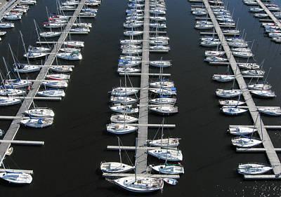 Marina Photograph - Lots Of Yachts by Rob Huntley
