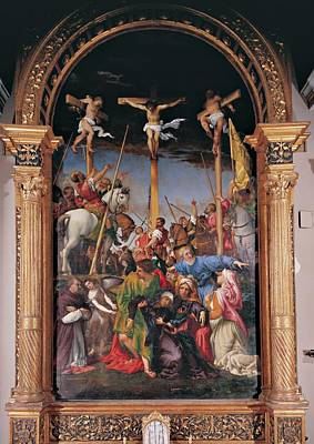 Lotto Lorenzo, The Crucifixion, 1534 Print by Everett