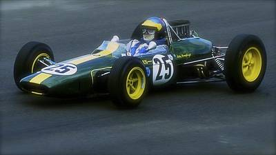 Lotus Racecar Photograph - Lotus 1960s Racing Car by John Colley