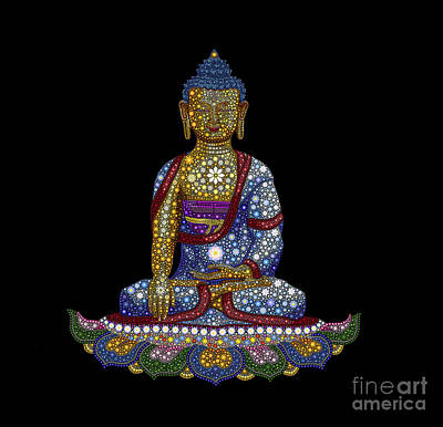 Awareness Digital Art - Lotus Buddha by Tim Gainey