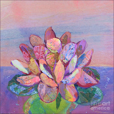 Purple Flowers Painting - Lotus II by Shadia Zayed