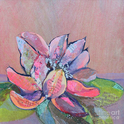 Purple Flowers Painting - Lotus Iv by Shadia Zayed