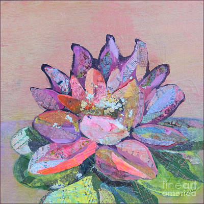 Purple Flowers Painting - Lotus V by Shadia Zayed