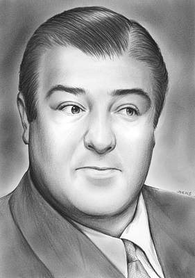 Comedy Drawing - Lou Costello by Greg Joens
