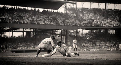Beloved Photograph - Lou Gehrig Playing First Base by Mountain Dreams