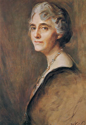 American First Lady Painting - Lou Hoover, First Lady by Science Source