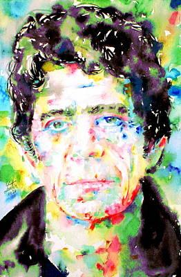 Lou Reed Watercolor Portrait.1 Original by Fabrizio Cassetta