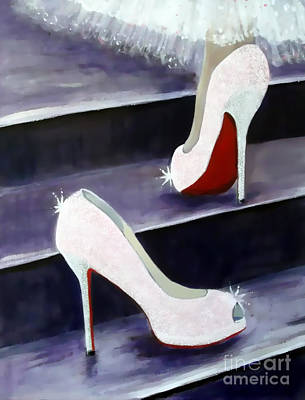Princes Painting - Louboutin Fairy Tale by Rebecca Jenkins