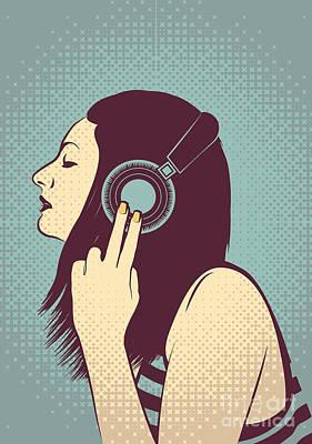 Cute Digital Art - Loud Silence by Freshinkstain