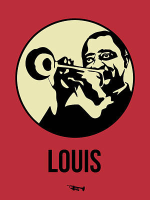 Jazz Mixed Media - Louis Poster 2 by Naxart Studio