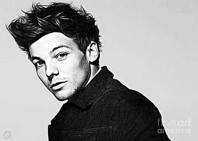 Singer Digital Art - Louis Tomlinson by The DigArtisT
