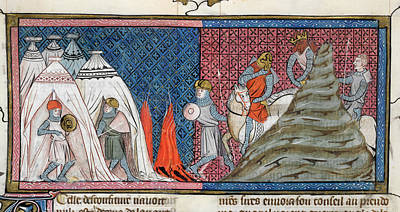 Louis Vii Reaches The Camp Print by British Library