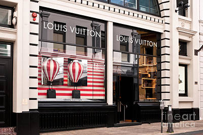 Storefront Photograph - Louis Vuitton 04 by Rick Piper Photography