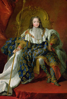Louis Xv Print by Alexis Simon Belle